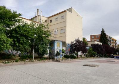 Plaza junto IES Vallecas